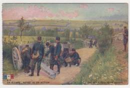 26548 Guerre 1914 1918 Dessin Soldat Guerre Notre 75 Action Canon -éd LVC B3 - War 1914-18