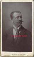 CDV Portrait Au Charbon Par Bellingard à Lyon-portrait D'homme - Anciennes (Av. 1900)