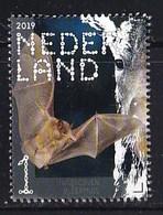 Nederland – 2 Januari 2019 – Beleef De Natuur – Zoogdieren – Ingekorven Vleermuis (Myotis Emarginatus) – MNH - Period 2013-... (Willem-Alexander)