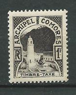 COMORES 1950 . Taxe  N° 2 . Neuf  ** (MNH) - Neufs