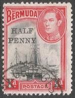 Bermuda. 1940 Surcharge. ½d On 1d Used SG 140 - Bermuda