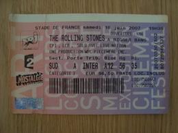TICKET D'ENTREE  THE ROLLING STONES STADE DE FRANCE 16 JUIN 2007 - Toegangskaarten