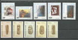 COTE IVOIRE Scott 848-852, 857-861 Yvert 809-813, 803-807 (10) ** Cote 12,20 $ 1988 - Côte D'Ivoire (1960-...)