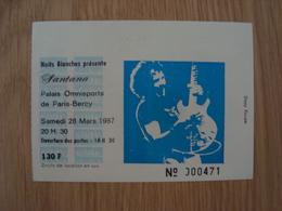 TICKET D'ENTREE SANTANA PARIS BERCY SAMEDI 28 MARS 1987 - Tickets D'entrée