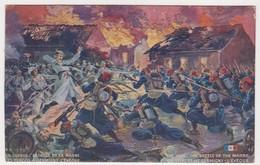 26552 Guerre 1914 1918 Dessin Soldat Bataille Marne Turcos à Germiny L Eveque  -éd LVC R1 T. Salas? - War 1914-18