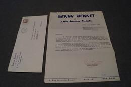 JAZZ,Benny Bennet,contrat Avec Courrier Originale,avec Signature,1960,Top RARE - Photos