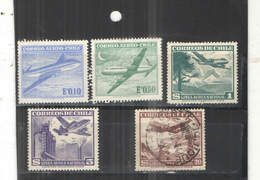 Chile PO  1950/54 Aereomobili Scott.C 138+142+144++See Scan On Album Tematica Aerei; - Cile
