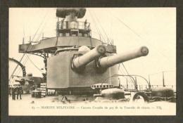 CP-Canons Couplés De 305 De La Tourelle De Chasse - Marine Militaire - Guerre