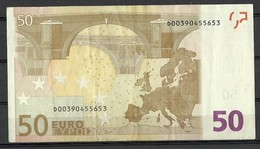 ESTONIA Estland 50 EURO 2002 D-Serie Banknote RO51D1 - EURO
