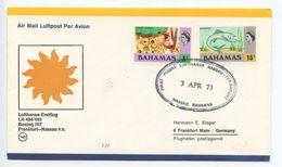 Bahamas 1973 Lufthansa LH 484/485 Boeing 707 1st Flight Cover To Germany - Bahamas (1973-...)