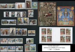 VATICANO 2017 - Annata Completa 29v. + 2 BF + 1 Libretto Nuovi** Perfetti - Vaticano