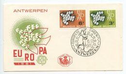 Belgium 1961 Scott 572-573 Europa - Doves FDC - FDC