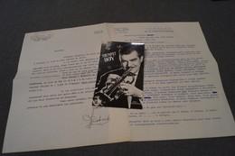 JAZZ,Trumpet Boy,courrier + Photos Et Contrat,Signature De Fernand Verstraete,1960,originale,Top RARE - Photos