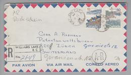 Kanada Canada 1974-06-08 Williamslake Airmailbrief Nach Zürich - 1952-.... Règne D'Elizabeth II