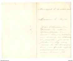 LETTRE MANUSCRITE 10-10-1918 BARNAZAT (63) DEMANDE DE SECOURS EN VETEMENTS A Mr LE PRÉFET - 1914-18