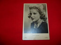 Cartolina Antica Con Autografo Originale Di Maria Mercader Moglie Di Vittorio De Sica Figlio Christian - Femmes Célèbres