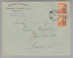 Mexiko 19?? Tanjuco Brief Nach Mexico Mit 2x 5 Cents - Mexique