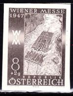 AUSTRIA (1947) Log Raft. Black Print. Scott No B200, Yvert No 667. Vienna International Sample Fair. - Prove & Ristampe