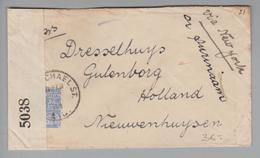 Britisch-Guayana 1918-06-10 Zensurbrief Nach Gutenborg NL - Guyane Britannique (...-1966)