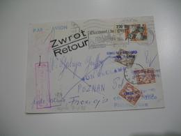 Lettre Philatélique En Poste Restante Censuré Urzad Cenzury Pour Poznan Pologne 1982 ; Retour à L'Envoyeur Voir Scan - Marcophilie (Lettres)