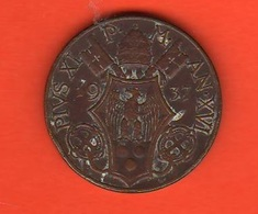 Vaticano 10 Centesimi 1937 Papa  Pio XI° Vatikan State - Vaticano