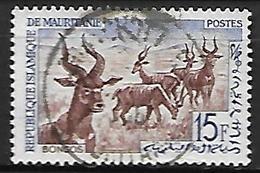 MAURITANIE    -    1963.    Y&T N° 171 Oblitéré .   Bongos  /  Gazelles - Mauritania (1960-...)
