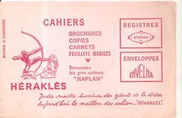 Buvard Héraklés Cahiers, Brochures, Copies, Carnets, Feuillets Mobiles, - Papeterie