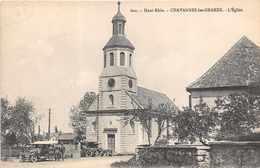 CHAVANNES Les GRANDS  - L'église ( Animée ..ambulance Militaire ) - France