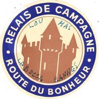 ETIQUETA DE HOTEL  -RELAIS DE CAMPAGNE  -ROUTE DU BONHEUR - Etiquetas De Hotel