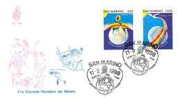 SAN MARINO FDC VENETIA  - ANNO 1997 - GIORNATA MONDIALE DEL MALATO - FDC