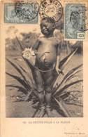 Oubangui Chari - Scenes Et Types V / 07 - La Petite Fille à La Fleur - Belle Oblitération - Défaut - Centraal-Afrikaanse Republiek