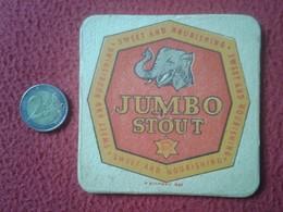 POSAVASOS COASTER MAT JUMBO STOUT SWEET AND NOURISHING ELEFANTE ELEPHANT ZUMO ? CERVEZA ? BEER ? JUICE ? UK ? VER FOTO/S - Portavasos