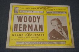 Jazz,Woody Herman 1954,affichette Publicitaire Originale,Jazz-Hot - Photos