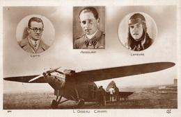 L'OISEAU CANARI PILOTES LOTTI ASSOLANT ET LEFEVRE (CARTE PHOTO ) - Avions