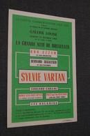 Jazz,Bob Azzam,Sylvie Vartan,22/02/1969,affichette Publicitaire,Galerie Louise à Bruxelles, Originale - Photos