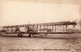 """AEROPLANE CAUDRON TYPE C-23 """"AEROBUS PARIS BRUXELLES"""" - Avions"""