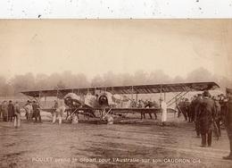 POULET PREND LE DEPART  POUR L'AUSTRALIE SUR SON CAUDRON G-4 - Avions