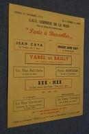 Jazz,affiche,Gala Surprise De La Wiso,1954,Galerie Louise à Bruxelles, Originale - Photos