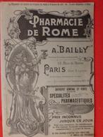 Revue Originale Couverture Art Nouveau Pharmacie De Rome A. Bailly à PARIS Produits Pharmaceutiques Médecine (7 Scans) - Livres, BD, Revues