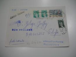 Lettre Philatélique En Poste Restante  Pour  Bydgoszcz  Pologne 1982  ;  Retour à L'Envoyeur Voir Scan - Marcophilie (Lettres)
