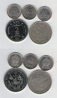 Sri Lanka  25 Cents 1975, 1978, 1982, 2 Rupees 1981 Mahaweli, 2 Rupees 2008 Vorsorgefonds - Sri Lanka