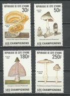 COTE IVOIRE Scott 975-978 Yvert 950-953 (4) ** Cote 7,20 $ 1995 - Côte D'Ivoire (1960-...)