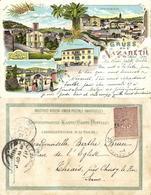 Israel Palestine, NAZARETH, Hotel Germania, Churches (1901) Litho Postcard - Israel
