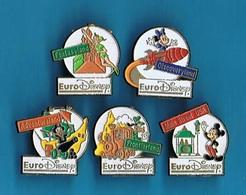5 PIN'S //  ** EURO DISNEY ** (Arthus Bertrand © Disney) - Pin's