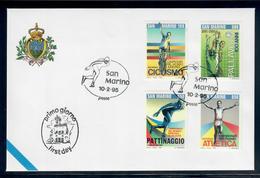 SAN MARINO  1995 - LO SPORT MONDIALE  - FDC - Essais & Réimpressions