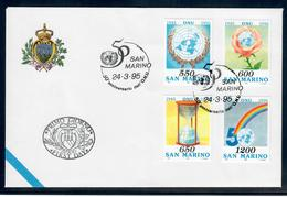 SAN MARINO  1995 - 50° ONU  - FDC - Prove E Ristampe