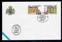 SAN MARINO  1995 - BASILICA SANTA CROCE FIRENZE  - FDC - Proofs & Reprints