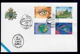 SAN MARINO  1995 - 20° ORGANIZZAZIONE MONDIALE TURISMO OMT -  - FDC - Essais & Réimpressions