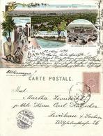 Syria, DAMAS DAMASCUS, Panorama, Barada River, Bedouins (1899) Litho Postcard - Syria