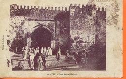 """Maroc, CPA  1909 ,  """" Fez, Bab El Mabrouk """"Morocco;Marruecos - Marokko (1891-1956)"""